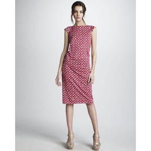 Diane Von Furstenberg GABI Ruche Silk Jersey Dress